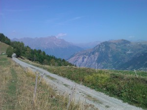 View of Alpe D'Huez and Villard Reculas
