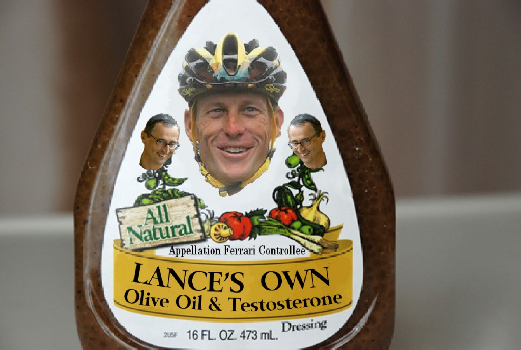 Lances New Olive Oil dressing with testosterone