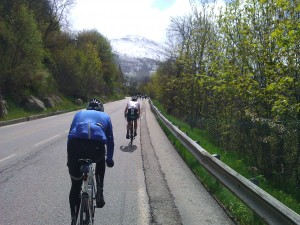The first bends of Alpe d'Huez