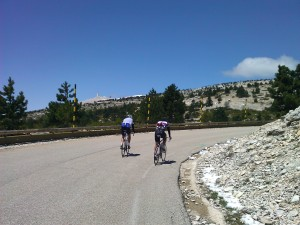 Mont Ventoux summit after the forest section