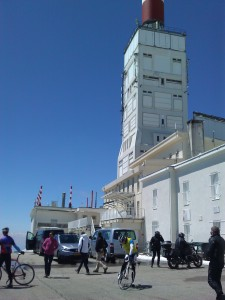 Tower at the top of Mont Ventoux