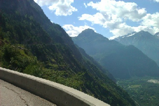 Les Balcons..view of Bourg D'Oisans in the valley
